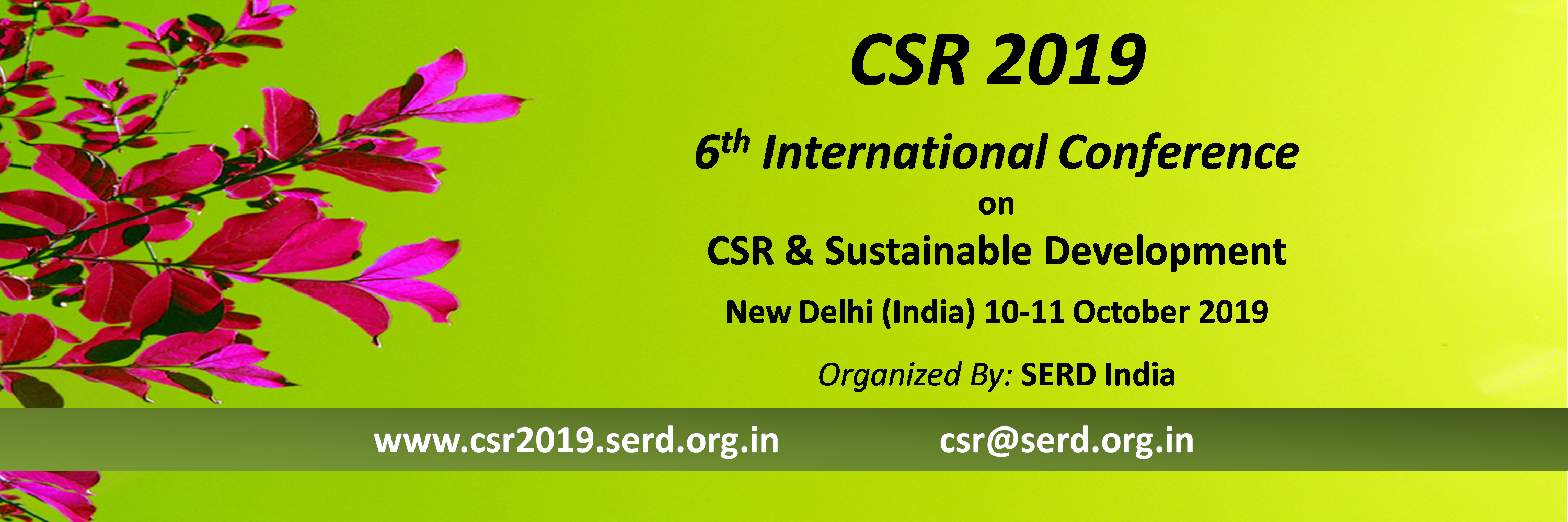 CSR 2019 Conference Organisers and Sponsors