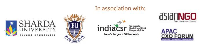 CSR 2019 Organisers Sharda University, IndiaCSR, CBLU, APACCXO Forum, ASIANNGO